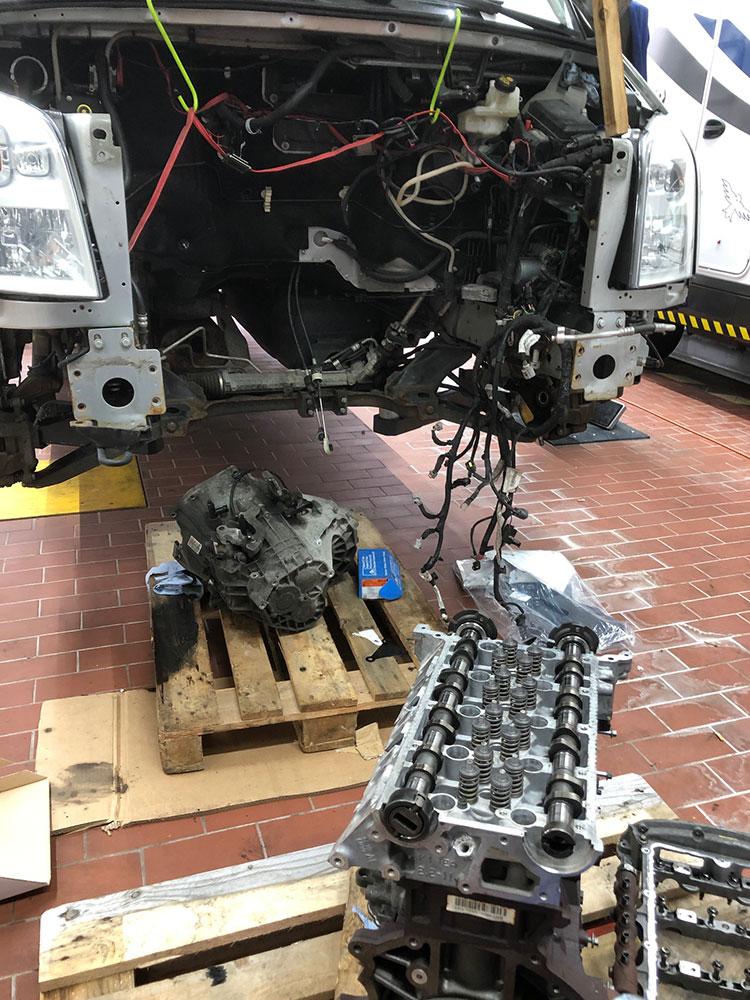 Wohnmobil Motorinstandsetzung